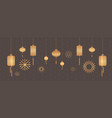 golden lanterns chinese calendar for new year of vector image vector image