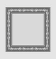 gray square frame vector image