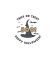 halloween badge vintage hand drawn logo design vector image vector image