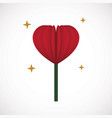 heart love lollipop sweet food flat design icon vector image vector image