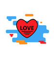 heart red icon trendy modern concept vector image vector image