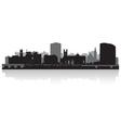 Limerick city skyline silhouette vector image vector image