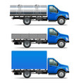 Lorry Icons Set 2 vector image vector image
