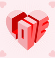 Love Heart Card vector image