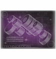 machine-building drawings on a purple background vector image vector image