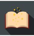 Magic book of spells open flat vector image