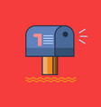 mailbox icon set of great flat icons use for vector image vector image