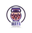 maya logo original design tribal emblem vector image vector image