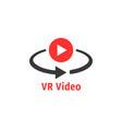 minimal red vr video icon