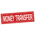 money transfer grunge rubber stamp vector image vector image