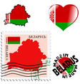 national colours of Belarus vector image vector image