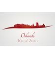 Orlando skyline in red vector image vector image