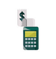 payments online terminal and bill technology flat vector image