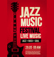 poster flyer design template for rock jazz event vector image vector image
