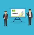 presentation business people presentation concep vector image vector image