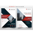 red blue square annual report leaflet brochure vector image vector image