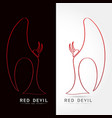 red devil - logo concept vector image vector image