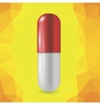 Red Pill Isolated vector image vector image