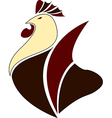 Rooster logo Cock icon Abstract vector image
