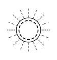 round linear emblem decoration empty vector image