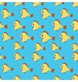 Seamless pattern with Angler fish vector image