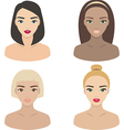 set girls icons vector image