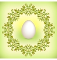Spring green Easter border vector image