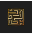 Square golden labyrinth icon vector image