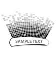 squares texture mono sample ii vector image