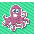 Sticker of purple octopus vector image vector image