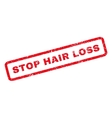 Stop Hair Loss Rubber Stamp vector image vector image