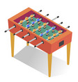 table-top soccer or foosball kicker football vector image vector image