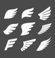 whate wings icons vector image vector image