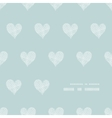 White lace hearts textile texture frame corner vector image vector image