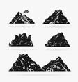 set rock stencil style vector image