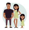 Mom and dad with daughter vector image