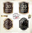 20 years Anniversary labels vector image vector image