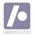 abbreviated conceptual graphic icon vector image vector image