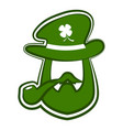 abstract leprechaun avatar vector image