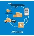 Air cargo and logistics flat design vector image
