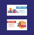 amusement park business cards on white background vector image