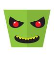 angry halloween cartoon alien avatar vector image vector image