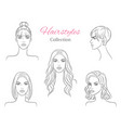beautiful young women with fashion trendy vector image vector image