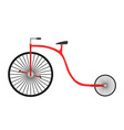 bicycle retro vintage bike isolated vector image vector image