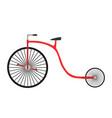 bicycle retro vintage bike isolated vector image