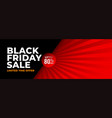 black friday red and black abstract banner design vector image vector image