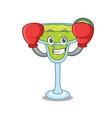 boxing margarita character cartoon style vector image