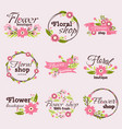 bright sign flower shop vector image vector image