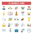 Business startup flat icons set vector image vector image