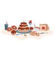cake chocolate vector image